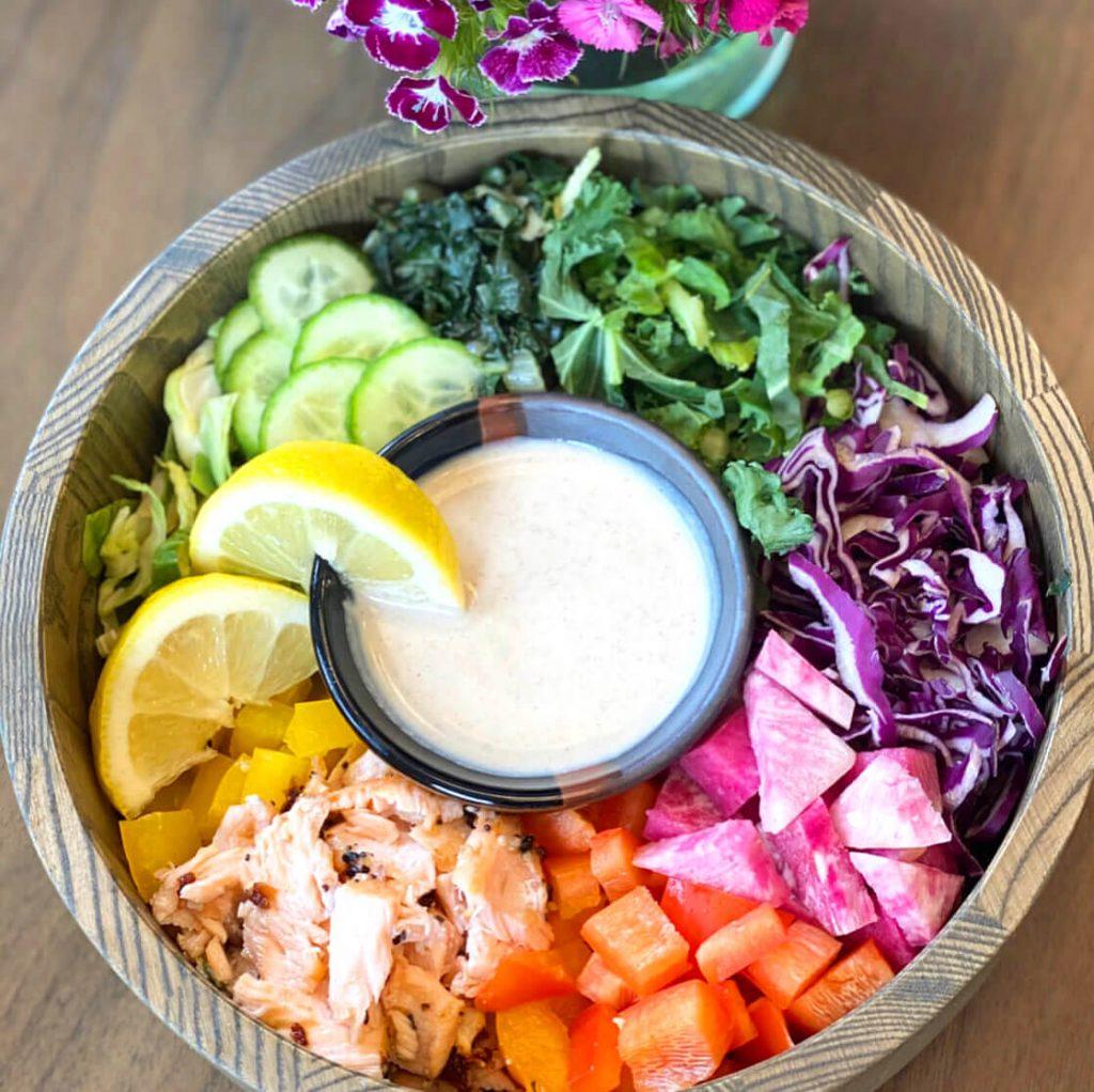 rainbow salad, light salad, salad recipe, lunch, dinner, lis on life, lis on food, lis-on-life, lis on food